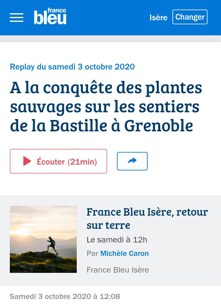 podcast France Bleu Isère