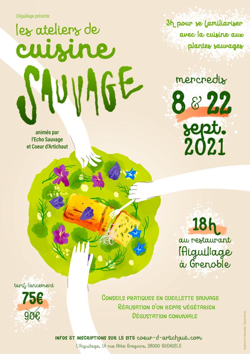 Atelier de cuisine sauvage à l'Aiguillage – Grenoble